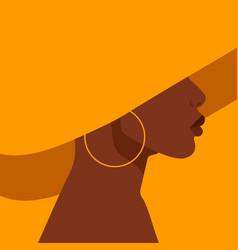 young african american woman vector image
