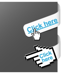 2 right side signs - click here vector image vector image