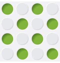 green and white circles vector image