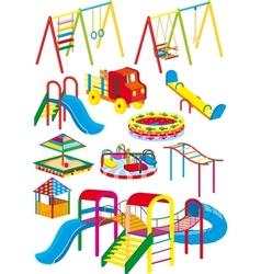 Playground set vector