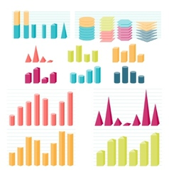 Set of infographic diagram elements for design vector image vector image