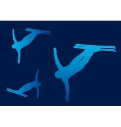 Ski Freestyle Silhouettes vector image