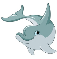 swimming dolphin vector image