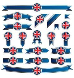 uk ribbons vector image