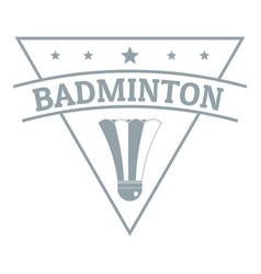badminton logo simple gray style vector image