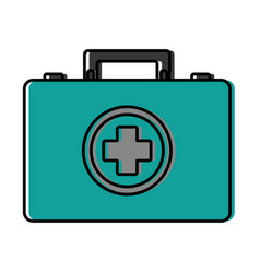 First aid kit icon vector