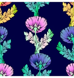 Colorful garden flowers Seamless hand-painted soft vector image vector image