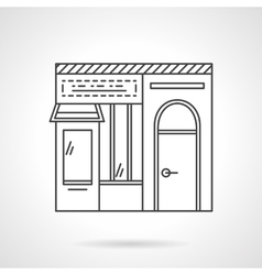 Dairy store flat line icon vector image vector image
