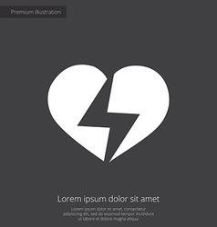 heart lightning premium icon vector image vector image