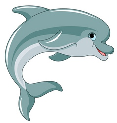 jumping dolphin vector image vector image