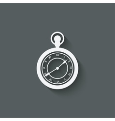 Pocket watch design element vector image