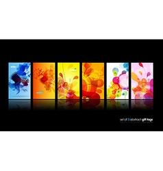 Set of abstract colorful circle vector image