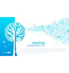 winter tree background vector image vector image