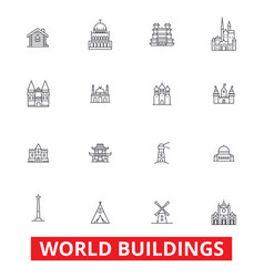 world buildings pagoda cottage villa mansion vector image vector image