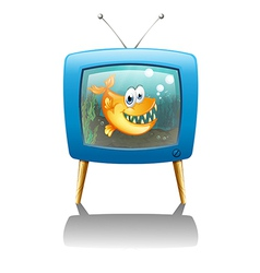 A television show about fish vector image