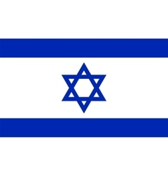 Official Israel flag vector image vector image