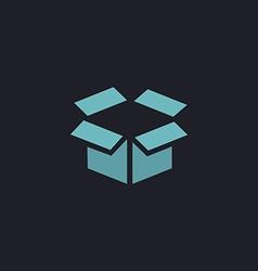 Open box computer symbol vector image
