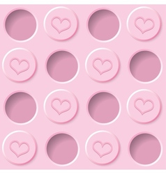 pastel pink background vector image vector image