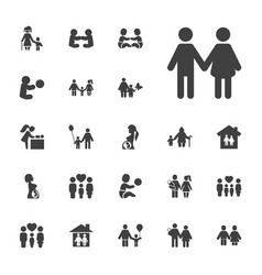 22 mother icons vector