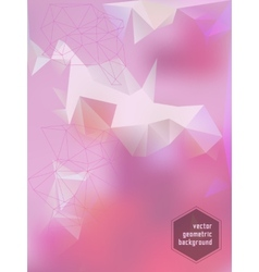 Abstract bright geometric polygonal background vector