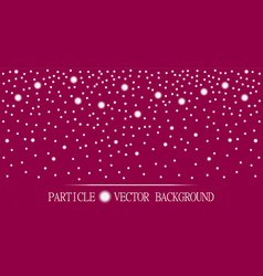 Abstract falling snow particles burgundy pink vector