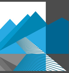 abstract mountains and road flat design vector image