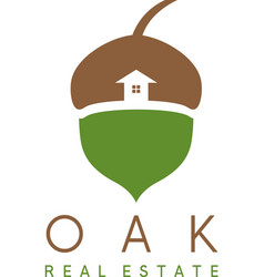 acorn and house icon real estate concep vector image