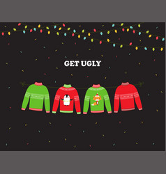 Banner for ugly sweater party vector