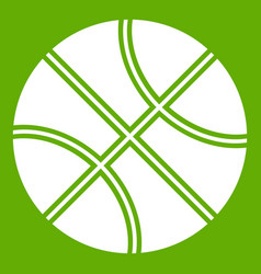 basketball ball icon green vector image