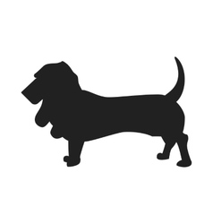 Basset Hound Silhouette vector image