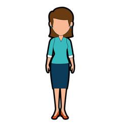 beautiful teacher female avatar character vector image