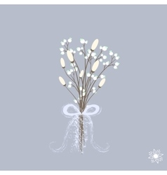 beautiful winter bouquet of vector image