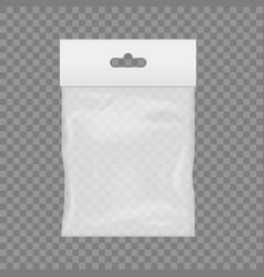 Blank of transparent plastic pocket vector
