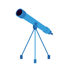 blue telescope on tripod vector image