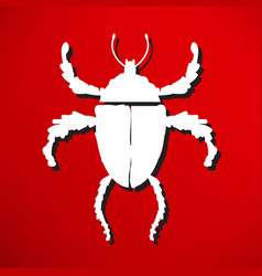 bug vector image