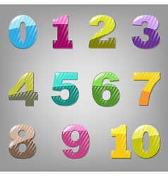 Cartoon Numbers Set vector