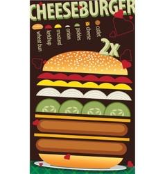 Cheeseburger vector image