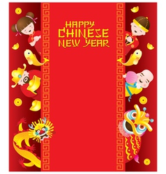 Chinese New Year Frame with Chinese Character vector