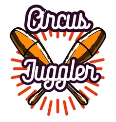 Color vintage circus emblem vector image