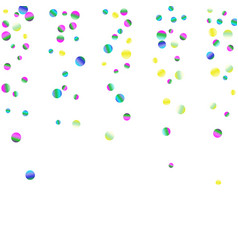 Colored confetti-points are scattered on a white vector