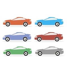 Colorful Icon Cars vector