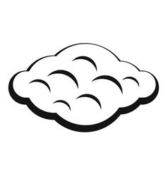 Curly cloud icon simple style vector
