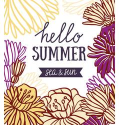 decorative element floral frame summer invitation vector image