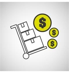 delivery cargo economy money vector image