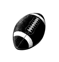 drawing rugby ball in black color vector image