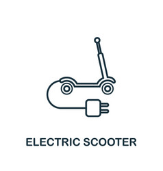 electric scooter outline icon creative design vector image