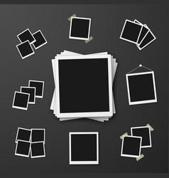 EPS10 Retro Instant Photo Frame Mockup vector image
