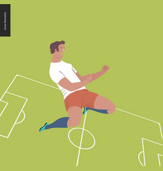European football soccer player vector