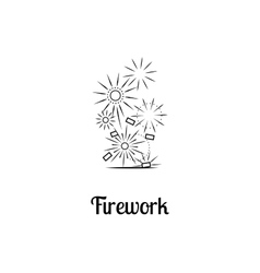 Firework company logo design vector image