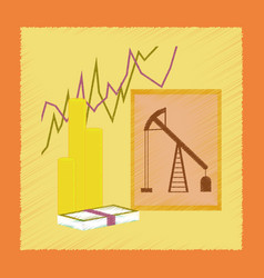 Flat shading style icon lesson economy vector